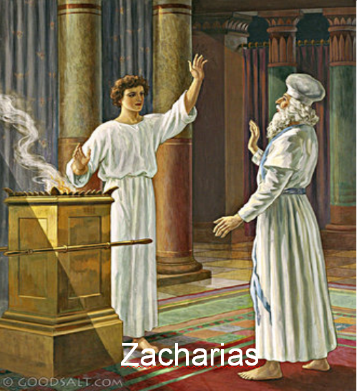 Picture of the Angel Gabriel and Zachariah in the Temple