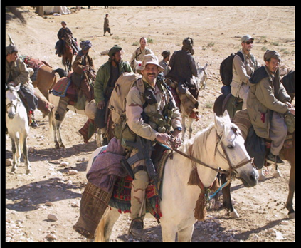 Special Forces and Afgan Rebels coming together to route taliban