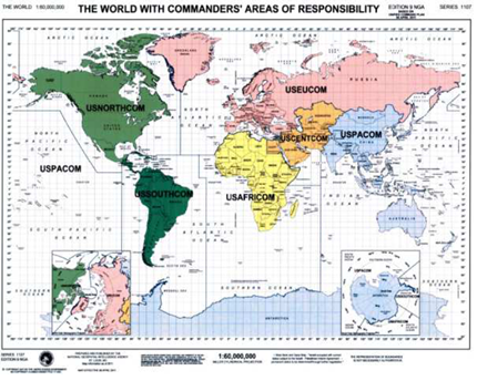 Map of US Global Command