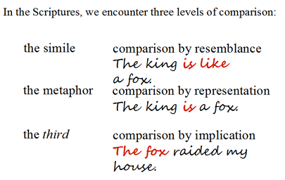 levels of comparison using the the king and a fox